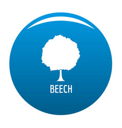 Beech tree icon blue vector