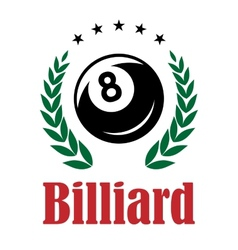 Billiards and snooker emblem vector