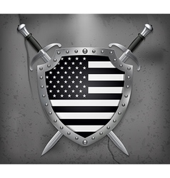 Black and White American Flag Medieval Background vector