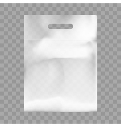 Blank Plastic Bag Mock Up Empty Polyethylene vector