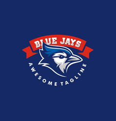 blue jay template vector image
