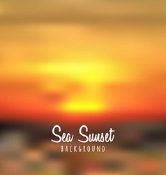 Blurred sea sunset background vector