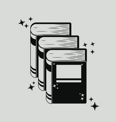 book silhouette for reading design vector image