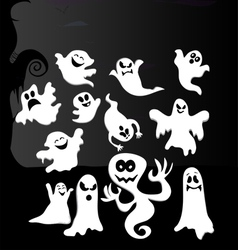 Build A Cartoon Ghost Creation Set vector image