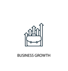 business growth concept line icon simple element vector image
