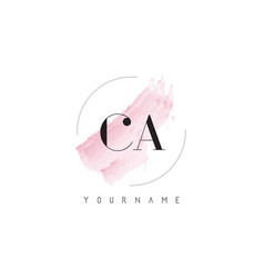 Ca c a watercolor letter logo design with vector