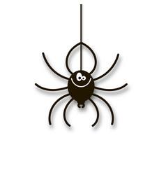 cartoon spider hand drawing vector image