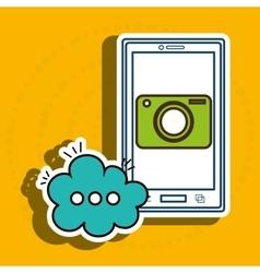Cellphone bubble speech cartoon vector
