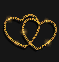 chain heart love background vector image