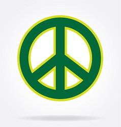 classic peace symbol vector image