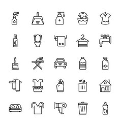 Cleaning icons 1 vector