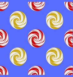 colorful sweet candy seamless pattern vector image