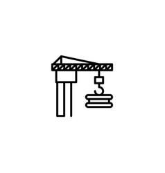 construction crane icon vector image