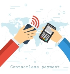 Contactless payment concept vector