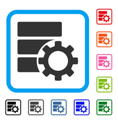Database options gear framed icon vector