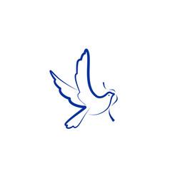 dove bird logo vector image vector image