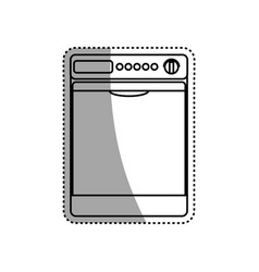 Dryer machine household appliance vector