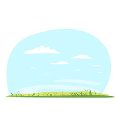 empty glade in summer day vector image
