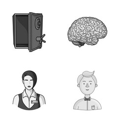 Finance profession and other monochrome icon in vector