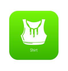 fitness shirt women icon green vector image