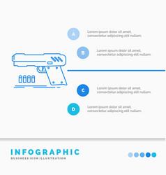 gun handgun pistol shooter weapon infographics vector image