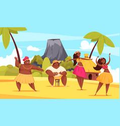 hawaii dance composition vector image
