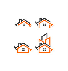 home builder logo template vector image