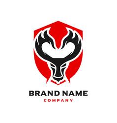 horn fire logo design aries vector image