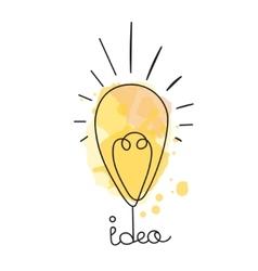 Idea Light bubl design vector image