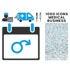 Impotence Calendar Day Icon With 1000 Medical vector