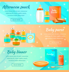 infant food horizontal banners vector image