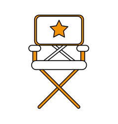 isolated director chair design vector image