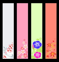 japanese season banners vector image vector image