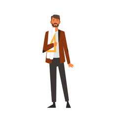 Male architect character professional vector