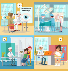 Medical care square concept vector