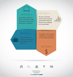 Modern Infographic vector image