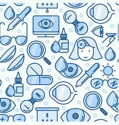 Ophthalmology seamless pattern with vision care vector