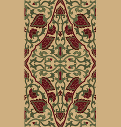 Oriental filigree pattern vector