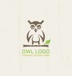 owl isolated line art logo template vector image