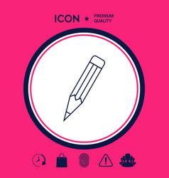 pencil - linear icon vector image
