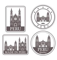 Peru vector image