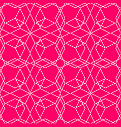 pink and white tile pattern for seamless wallpaper vector image