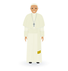 Pope character isolated on a white background vector