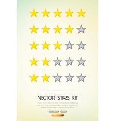 Rating stars vector