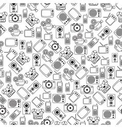 Retro electronic seamless pattern vector