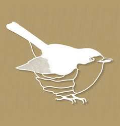 Robin bird design for plotter or laser cutting vector