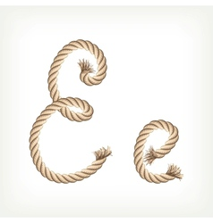 Rope alphabet Letter E vector image vector image