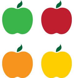 set of different apples design vector image