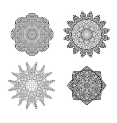 Set of round ornaments vector image