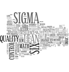 Sigma word cloud concept vector